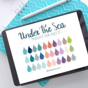Under The Sea Procreate Color Palette M003