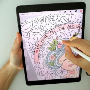Self Love Digital Coloring Book for Ipad or Tablet