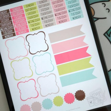 Colorful Digital Planner Sticker Book | +206 Goodnotes Planner Sticker Book| Ipad Planner or Journal Stickers   | M001