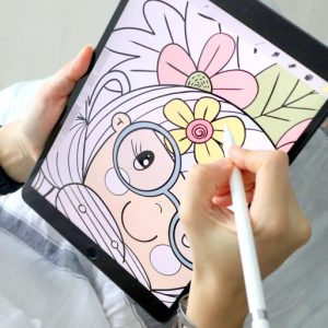 16 Sheet Self Love Digital Coloring Book for Ipad or Printing E503