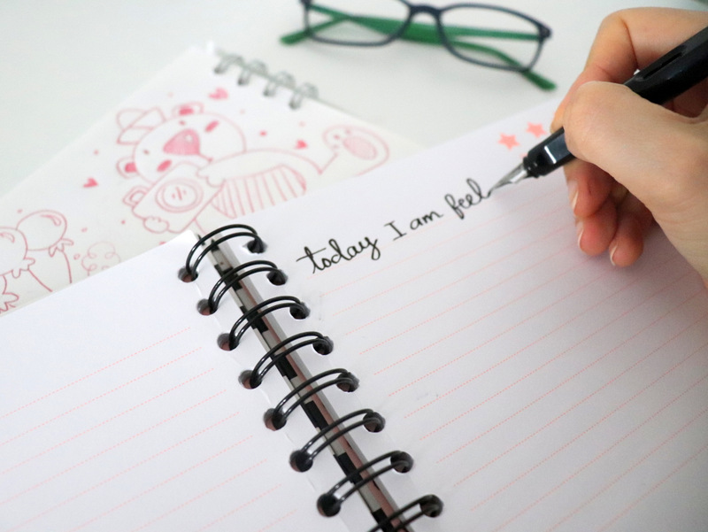 Journaling for 10 minutes is one of the 8 ways to slowdown after a busy day.