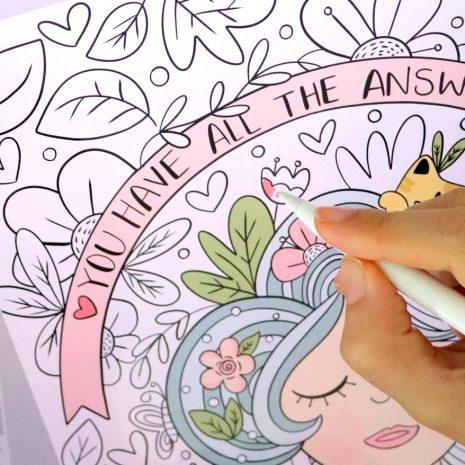 Blooming Digital Adult Coloring Book