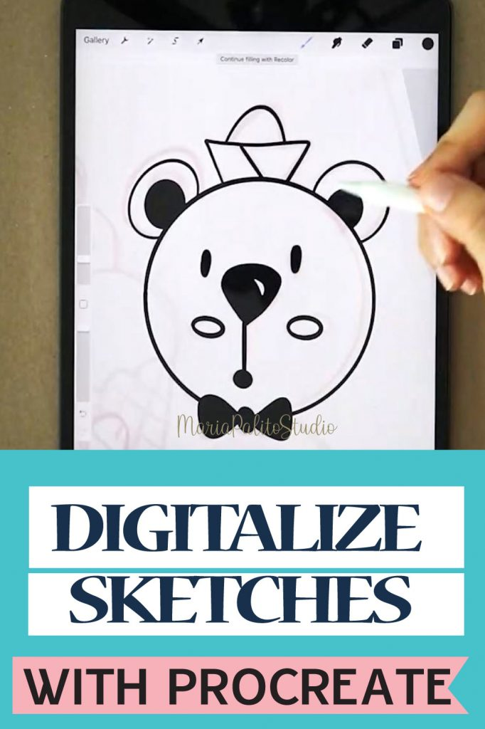 How to Digitalize a Sketch in Procreate using your Ipad​. There is a great and easy way to Turn a Sketch into Digital Art. If you have an iPad you can try using the app Procreate or IbisPaint X  to do so. Today I want to share with you a good way to digitalize your doodles using your device.