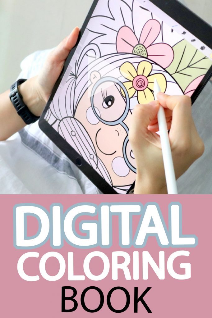 Self-Love Digital Coloring Book for Ipad. Digital Coloring to slowdown your mind and fade your inner dialog. Helps to relax and reduce anxiety Slow down your brain and start focusing on Yourself. #Digitalcoloring #digitalillustration #digitalpainting