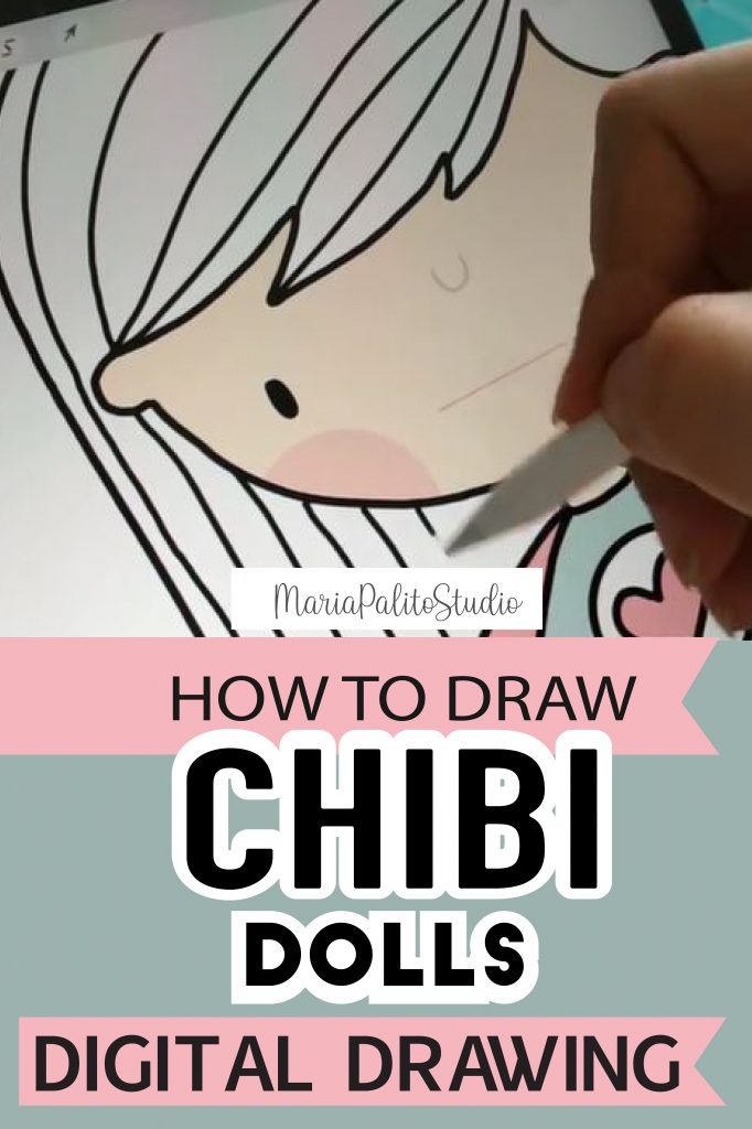 Chibi Doll Illustration. Drawing a cute little doll using Procreate and Ipad. #DigitaDrawing #digitalillustration