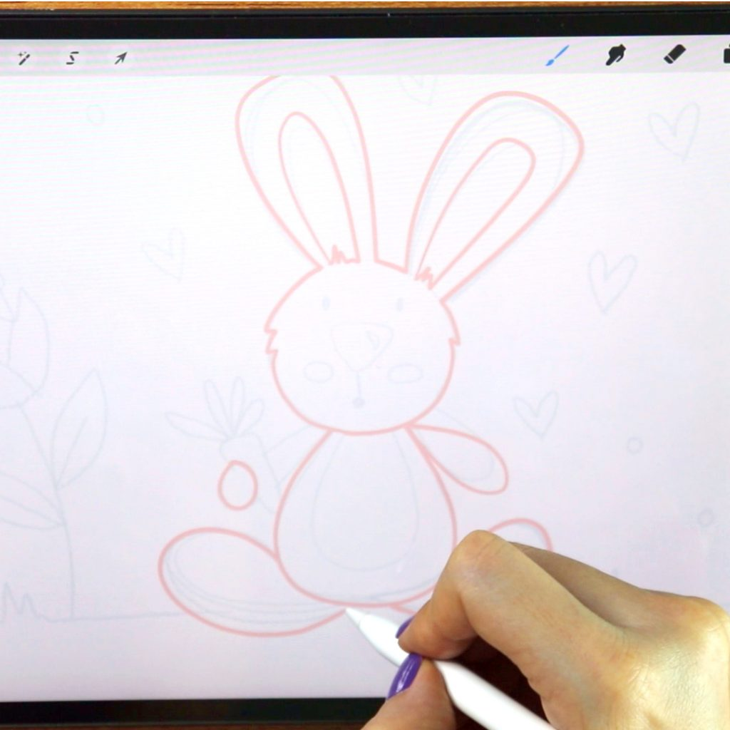Do you want to learn how to draw digitally? Learn how to draw this Easy bunny using Procreate and your Ipad.