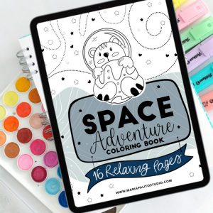 Outer Space Digital Coloring Book | Ipad or Printable