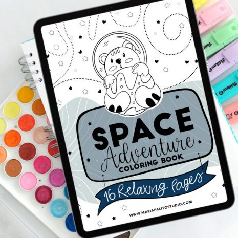 SPACE ADVENTURE DIGITAL COLORING BOOK (11)