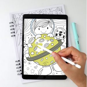 16 Page Space Adventure Digital Coloring Book | Ipad or Printable E522
