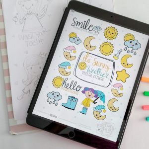 +67 Weather Digital Planner Stickers E532