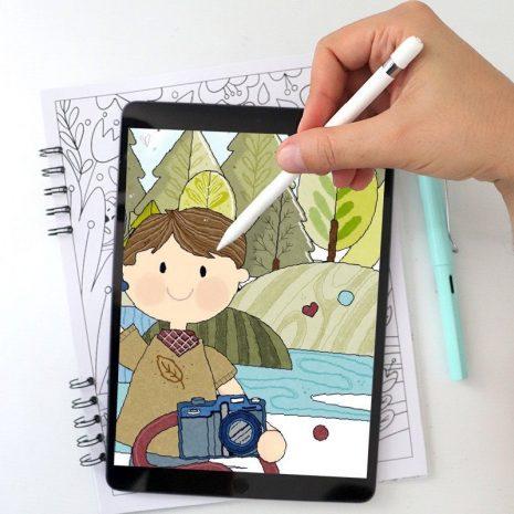 Travel Adventure Ipad Digital Coloring Book   10 Page Ipad or Printable Mental Health Adult Coloring Book   Procreate Coloring Book 